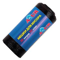 Мешки для мусора 30 л, черные, в рулоне 50 шт., ПНД, 6 мкм, 50х50 см, YORK AZUR