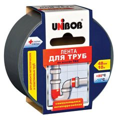 Клейкая лента для труб, 48 мм х 10 м, UNIBOB, основа-ПВХ, европодвес