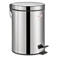 """Ведро-контейнер для мусора (урна) с педалью ЛАЙМА """"Classic"""", 3 л, зеркальное, нержавеющая сталь, со съемным внутренним ведром"""