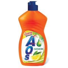 "Средство для мытья посуды 450 мл, AOS ""Лимон"""