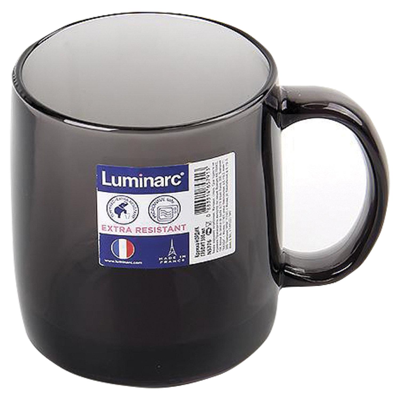 """Кружка для чая и кофе, объем 380 мл, дымчатое стекло, """"Nordic Graphite"""", LUMINARC, N5776"""