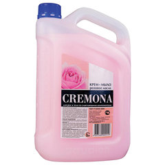 """Мыло-крем жидкое 5 л КРЕМОНА """"Розовое масло"""", ПРЕМИУМ, перламутровое, из натуральных компонентов"""