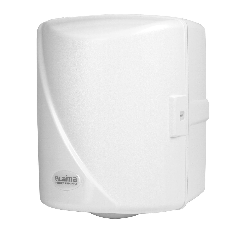 Диспенсер для полотенец LAIMA PROFESSIONAL ORIGINAL, с центральной вытяжкой (Система М1/M2), белый, ABS-пластик, 605763
