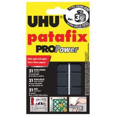 Подушечки клеящие UHU Patafix ProPower, 21 шт., сверхпрочные (до 3 кг), многоразовые, черные