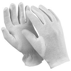 """Перчатки хлопчатобумажные MANIPULA """"Атом"""", КОМПЛЕКТ 12 пар, размер 8 (M), белые"""