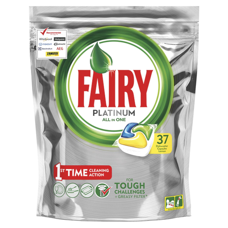 """Капсулы для мытья посуды в посудомоечных машинах 37 шт. FAIRY (Фейри) All in 1, """"Лимон"""""""