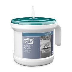 Диспенсер для полотенец переносной, TORK (M4) Reflex, стартовый набор с полотенцем, белый, 473186