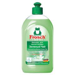 """Средство для мытья посуды 500 мл FROSCH """"Зеленый чай"""", бальзам, защита кожи рук, ЭКО, пуш-пул"""