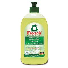 """Средство для мытья посуды 500 мл FROSCH """"Лимон"""", бальзам, защита кожи рук, ЭКО, пуш-пул"""