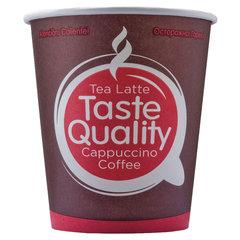 """Одноразовые стаканы 180 мл, КОМПЛЕКТ 80 шт., бумажные однослойные, """"Taste Quality"""", холодное/горячее, ФОРМАЦИЯ, HB72-205-0001"""