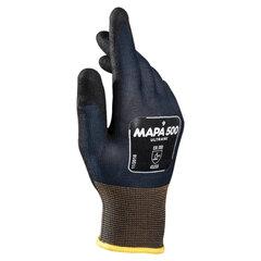 Перчатки текстильные MAPA Ultrane 500, нитриловое покрытие (облив), маслостойкие, размер 8 (M), черные