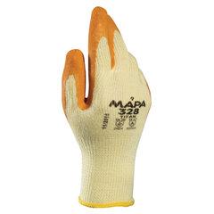 Перчатки текстильные MAPA Enduro/Titan 328, покрытие из натурального латекса (облив), размер 8 (M), оранжевые/желтые