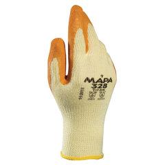 Перчатки текстильные MAPA Enduro/Titan 328, покрытие из натурального латекса (облив), размер 9 (L), оранжевые/желтые