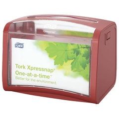 Диспенсер для салфеток настольный TORK (N4) Xpressnap, вмещает 200 шт. салфеток, красный, 272612