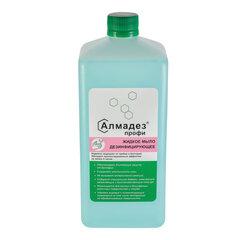 Мыло жидкое дезинфицирующее 1 л АЛМАДЕЗ-ПРОФИ, с пролонгированным антимикробным эффектом, крышка