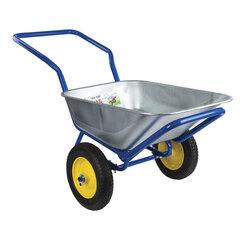 Тачка садово-строительная ТЕХ-ТОП, 110 л, максимальный вес 260 кг, цинковый кузов, пневмоколеса d=360 мм, 606628