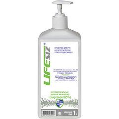 Средство для рук антисептическое спиртосодержащее (65%) с дозатором 1 л ЭЛЕН, жидкость