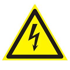 """Знак предупреждающий """"Опасность поражения электрическим током"""", треугольник, 200х200х200 мм"""