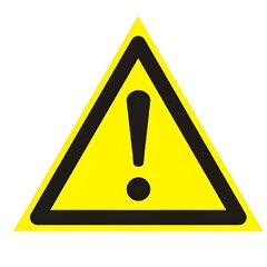 """Знак предупреждающий """"Внимание. Опасность (прочие опасности)"""", треугольник, 200х200х200 мм"""