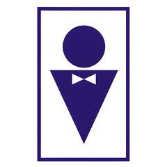 """Знак вспомогательный """"Туалет мужской"""", прямоугольник, 120х190 мм, самоклейка"""