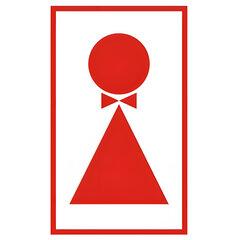 """Знак вспомогательный """"Туалет женский"""", прямоугольник, 120х190 мм, самоклейка"""