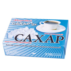 Сахар-рафинад 1кг (336 кусочков, размер 12х14х15 мм), картонная упаковка