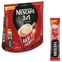 """Кофе растворимый NESCAFE """"3 в 1 Классик"""", 20 пакетиков по 16 г (упаковка 320 г)"""