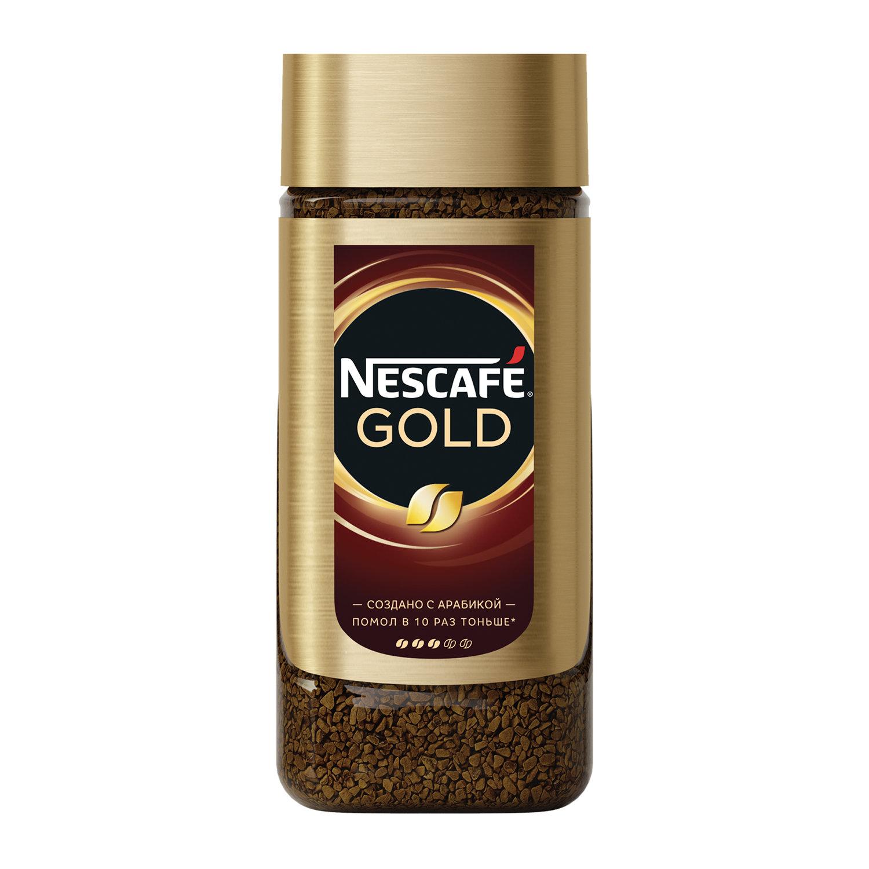 """Кофе молотый в растворимом NESCAFE (Нескафе) """"Gold"""", сублимированный, 95 г, стеклянная банка"""