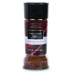 """Кофе растворимый DAVIDOFF """"Rich Aroma"""", гранулированный, премиум-класса, 100 г, стеклянная банка"""