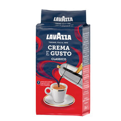"Кофе молотый LAVAZZA ""Crema E Gusto"", 250 г, вакуумная упаковка, 3876"
