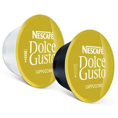 Капсулы для кофемашин NESCAFE Dolce Gusto Cappuccino, нат. кофе 8 шт.х8 г, мол. капс. 8 шт.х17 г