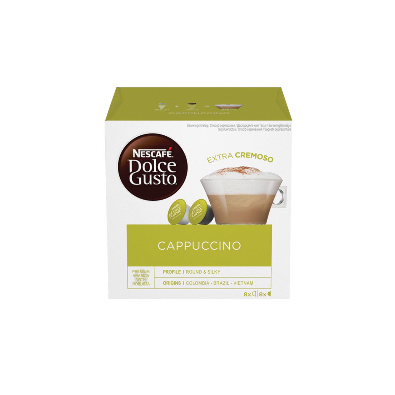 Капсулы для кофемашин NESCAFE Dolce Gusto Cappuccino, натуральный кофе 8 шт. х 8 г, молочные капсулы 8 шт. х 17 г