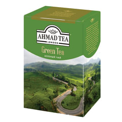 "Чай AHMAD (Ахмад) ""Green Tea"", зеленый листовой, картонная коробка, 200 г"