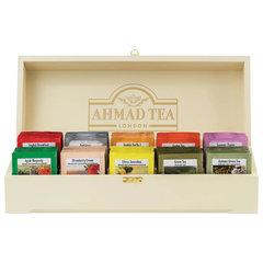 """Чай AHMAD (Ахмад) """"Contemporary"""", набор в деревянной шкатулке, ассорти 10 вкусов по 10 пакетиков по 2 г"""