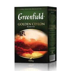 """Чай GREENFIELD (Гринфилд) """"Golden Ceylon ОРА"""", черный, листовой, 100 г, 0351"""