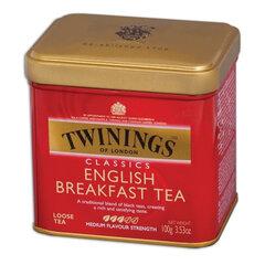 """Чай TWININGS (Твайнингс) """"English Breakfast"""", черный, железная банка, 100 г"""