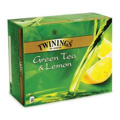 """Чай TWININGS (Твайнингс) """"Green tea Lemon"""", зеленый, со вкусом лимона, 50 пакетиков"""