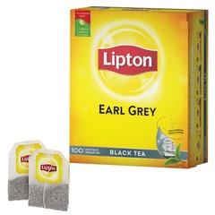 """Чай LIPTON (Липтон) """"Earl Grey"""", черный, 100 пакетиков с ярлычками по 2 г"""