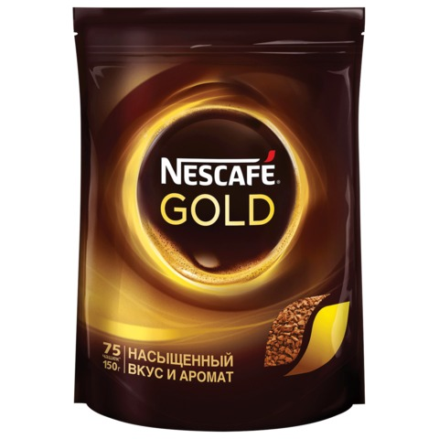 "Кофе растворимый NESCAFE ""Gold"", 150 г, мягкая упаковка"