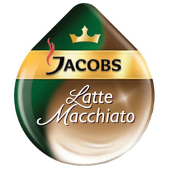 "Капсулы для кофемашин TASSIMO JACOBS ""Latte Macchiato"", натуральный кофе 8 шт. х 8 г, молочные капсулы 8 шт. х 21,7 г"