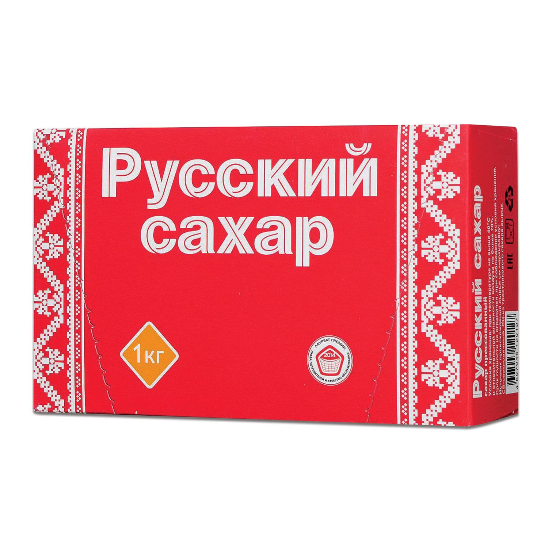 "Сахар-рафинад ""Русский"", 1 кг (196 кусочков, размер 15х16х21 мм), картонная упаковка"
