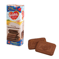 """Печенье ЛЮБЯТОВО """"Шоколадное"""", сахарное, 335 г, в спайке, 24035"""