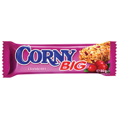 """Батончик-мюсли CORNY """"Big"""" (Корни """"Биг""""), злаковый c клюквой 50 г"""
