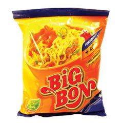 """Лапша BIG BON быстрого приготовления с говядиной и соусом """"Томат с базиликом"""", 75 г"""