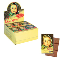 """Шоколад КРАСНЫЙ ОКТЯБРЬ """"Аленка"""", 15 г, в шоубоксе"""