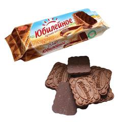 Печенье ЮБИЛЕЙНОЕ с какао и шоколадной глазурью, 116 г