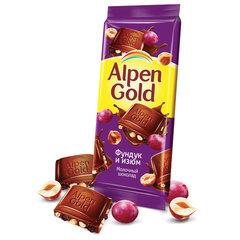 Шоколад ALPEN GOLD (Альпен Голд), молочный с фундуком и изюмом, 90 г