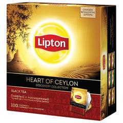 """Чай LIPTON (Липтон) Discovery""""Heart of Ceylon"""",черный, 100 пакетиков по 2 г"""