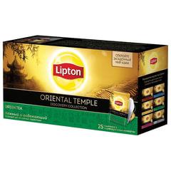 "Чай LIPTON (Липтон) Discovery ""Green Oriental Temple"", зеленый, 25 пакетиков по 2 г"