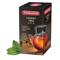 """Чай TEEKANNE (Тикане) """"Legend 1882"""", черный, 25 пакетиков по 2 г в конвертах, Германия"""